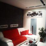 appartamento decorazioni muri spatolato e binario luci