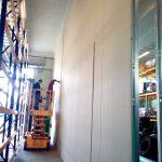 parete compartimentazione rei gommista Pneus